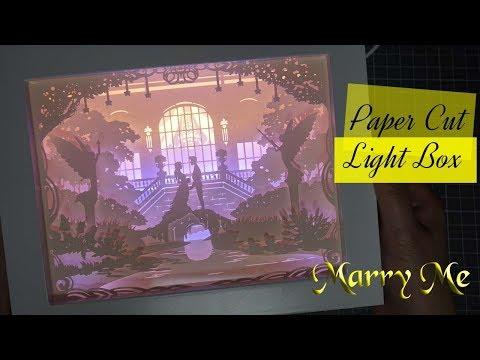 [DIY] 페이퍼커팅 무드등 : 메리미  │  Paper-cut Light Box : Marry me