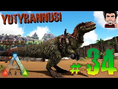 ARK SURVIVAL EVOLVED MOD TENEMOS YUTYRANNUS NIVEL 140 ! NUEVO DINOSAURIO GAMEPLAY ESPAÑOL
