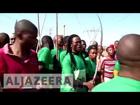 South Africa commemorates Marikana miners killed by police