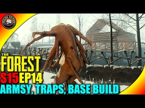 The Forest Gameplay - Mutants Attack, New Gate, Traps - S15EP14 (Alpha V0.33)