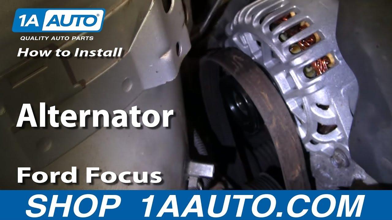 how to install replace alternator ford focus zetec dohc 00 04 1aauto com [ 1280 x 720 Pixel ]