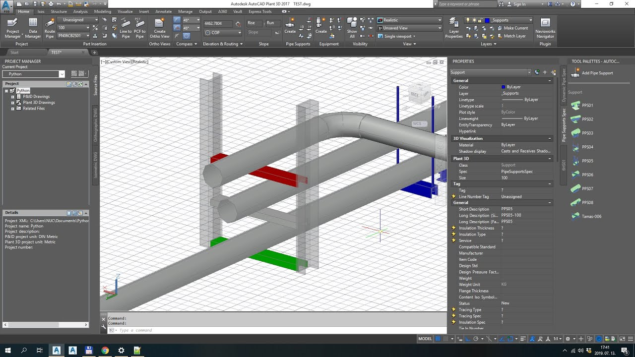 Pipe support scripts for Autocad Plant3D – Tamas Halasz