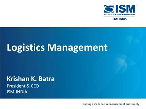 Webinar On 'Logistics Management'