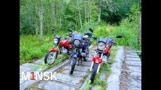 На мотоциклах Минск(M1NSK) в лесу!
