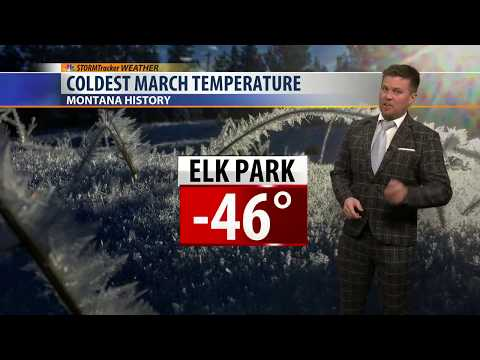 Coldest March Temperature EVER Recorded In Montana