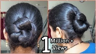 simple and easy summer twisted updo // hairstyle//Flower Bun Hairstyles For Girls|2 easy Flower bun