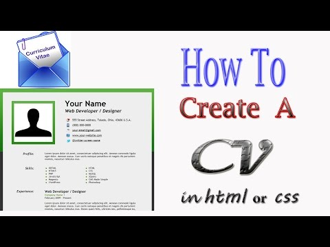 Create CV Card With HTML & CSS In Urdu