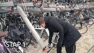 Hoe gebruik je de fietsenstalling eigenlijk?