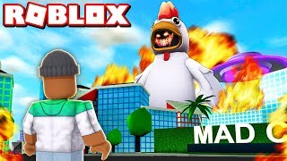 FIGHTING THE NEW *CHICKEN BOSS* in ROBLOX MAD CITY!!