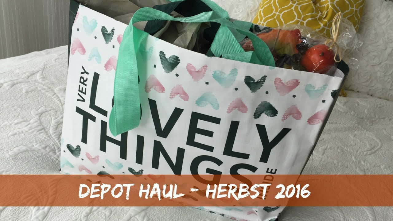 depot deko haul herbst 2016 beautythoughtsbyalex youtube. Black Bedroom Furniture Sets. Home Design Ideas