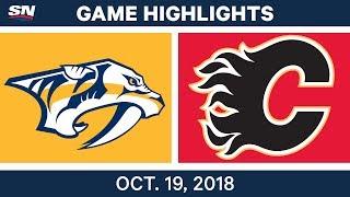NHL Highlights | Predators vs. Flames - Oct. 19, 2018