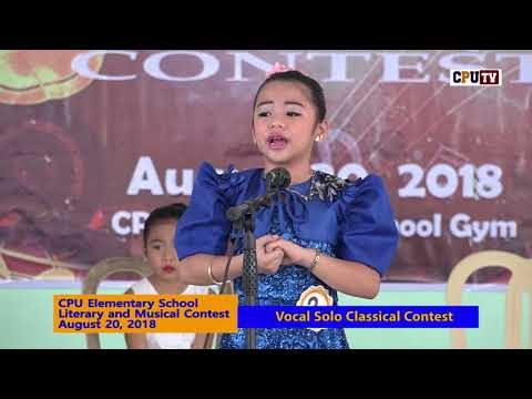 CPUES LITERARY MUSICAL CONTEST Vocal Solo Classical 2018