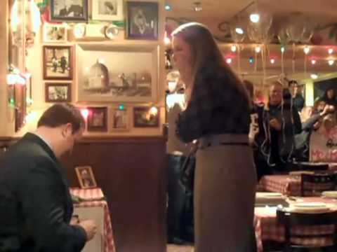 Robbins Brothers Surprise Marriage Proposal At Italian Restaurant