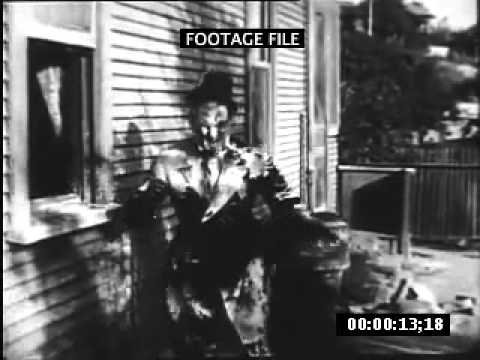 Slapstick Mabel Normand Gets Pie in Face