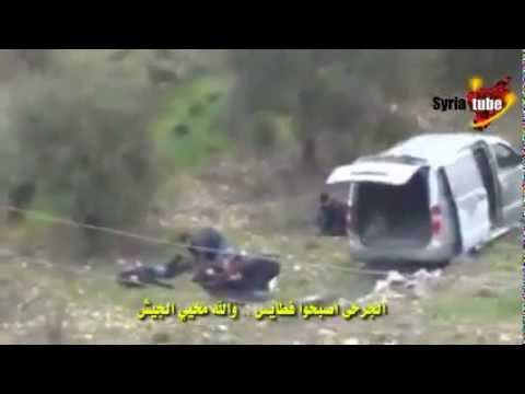18+ Syria _ Syrian army carried out an ambush for militants _ FSA _ Free Army , see results
