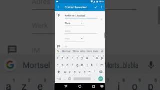 Android Google contacten bewerken op je smartphone. Gegevens toevoegen.