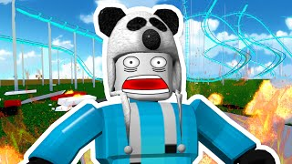 INSANE ROLLER COASTER CRASH!! | Roblox Theme Park Tycoon #2