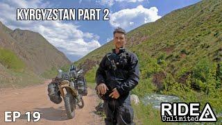 Adventure Motorcycling In KYRGYSTAN Part 2, Motorcycle Travel Series