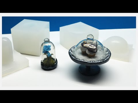 Miniature Resin Dome- Polymer clay, RTV silicone and resin- tutorial