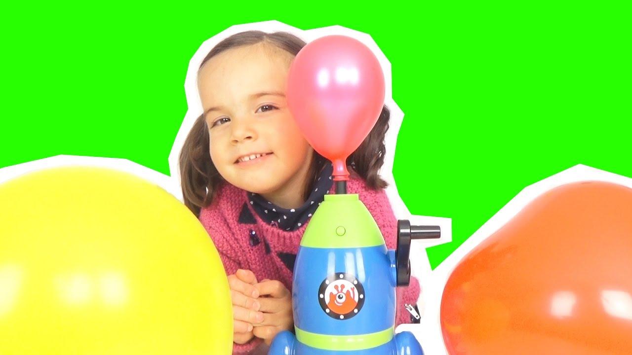la machine faire decoller les ballons ballons plein de surprises ou de bonbons d mo jouets. Black Bedroom Furniture Sets. Home Design Ideas