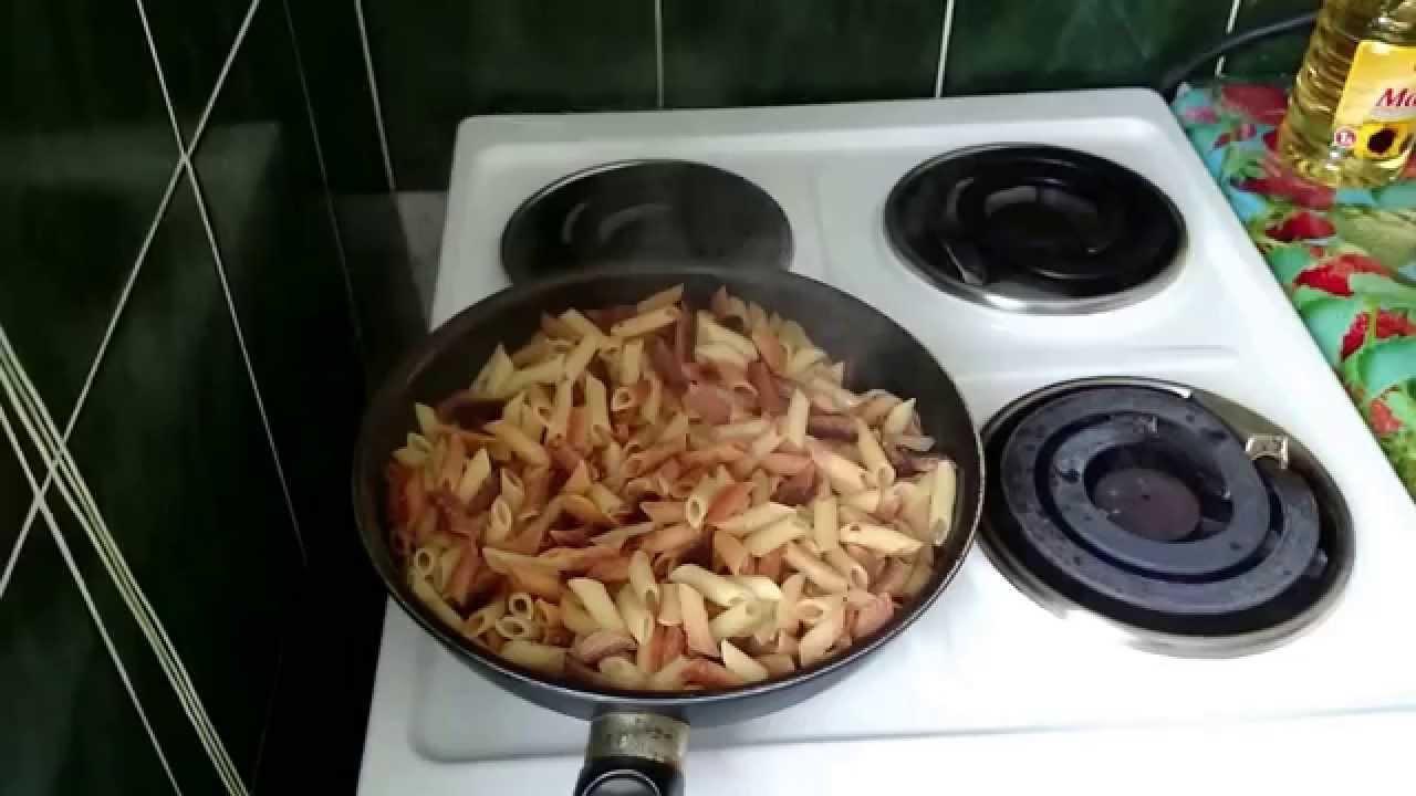 Макароны с сыром на сковороде