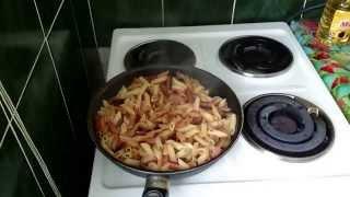 Как приготовить Жареные макароны с сыром Рецепт Что ужин домашние классический быстро вкусно видео