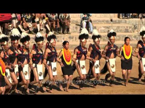 Folkloric performance by Khiamniungan tribe at Hornbill Festival