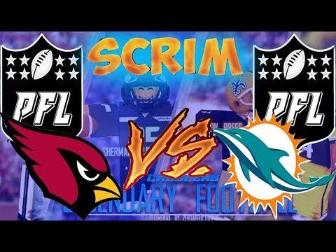 League Scrim Against Miami Dolphins [PFL Scrim #1]