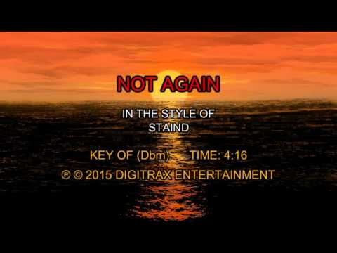 Staind - Not Again (Backing Track)