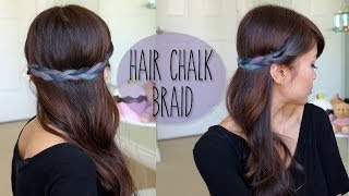 DIY: Rainbow Braid Hairstyle - Splat Hair Chalk Tutorial Thumbnail