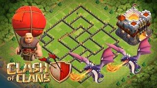 Clash Of Clans - TH 11 Hybrid/Farming Base - 2 Bomb Towers&300 Walls