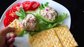 Stuffed avocado with tuna salad recipe - How to cook mexican food