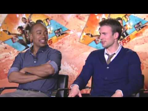 Chris Evans, Oscar Jaenada, Columbus Short talk The Losers | Empire Magazine
