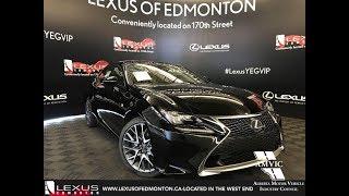 Black 2018 Lexus RC 350 F Sport Series 2 Walkaround Review Downtown Edmonton Alberta