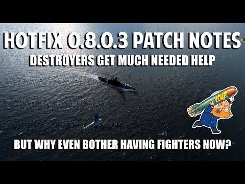 World of Warships Hotfix 8.0.3 CV Attack Plane Balance