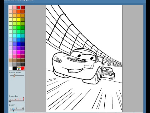 Disney Cars Painting Games Disney Cars Coloring Pages YouTube