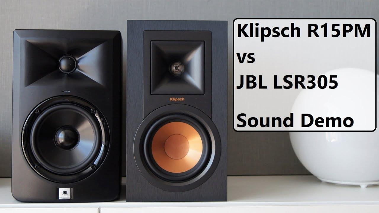 Klipsch R-15PM vs JBL LSR305 || Sound Demo #2