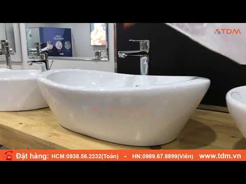 Review Chậu Rửa Mặt Lavabo đặt Bàn INAX L-465V + Vòi Nước LFV-2012SH Giá 3.660.000đ