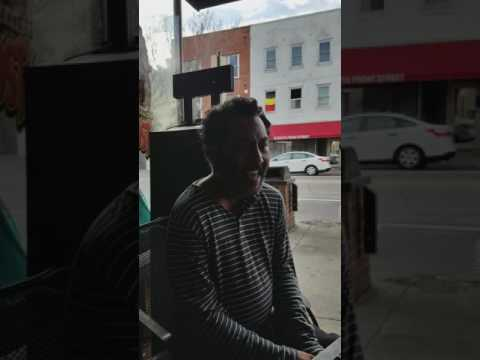 Homeless in downtown  Wilmington.  Meet Clark.