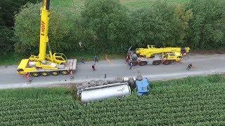 2017 09 05 Lohne Gülle-LKW im Graben
