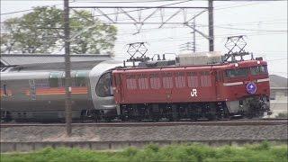 【EF81-139】団臨 寝台列車カシオペア紀行 東鷲宮~栗橋 2017.4.22