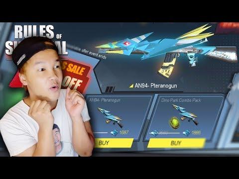 Rulesអាប់ដែតថ្មីឡូយណាស់(លេខ1) - AN94-Pteranogun NEW SKIN Rules Of Survival Ep86 Khmer