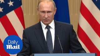 Putin asked if he has any compromising information on Trump