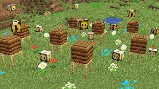 Пчелы в майнкрафте 1.14 (как сделать пасеку с ульями)