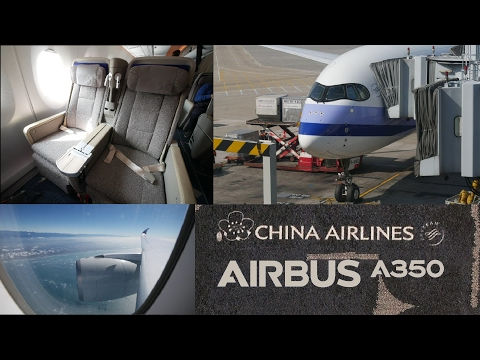 China Airlines CI904 Airbus A350 Premium Economy full flight report (Hong Kong to Taipei)