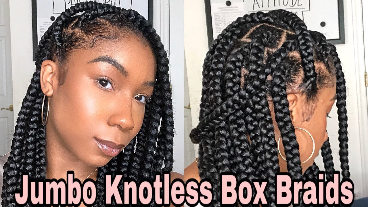 How To Medium Jumbo Knotless Box Braids Poetic Justice