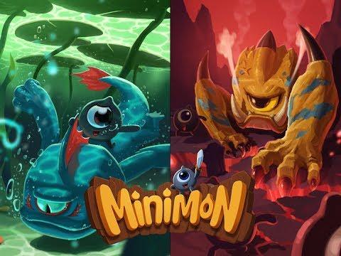 Ассорти игр Минимон: Приключение Миньонов, Битва Замков, Heroes Charge, Card Monsters