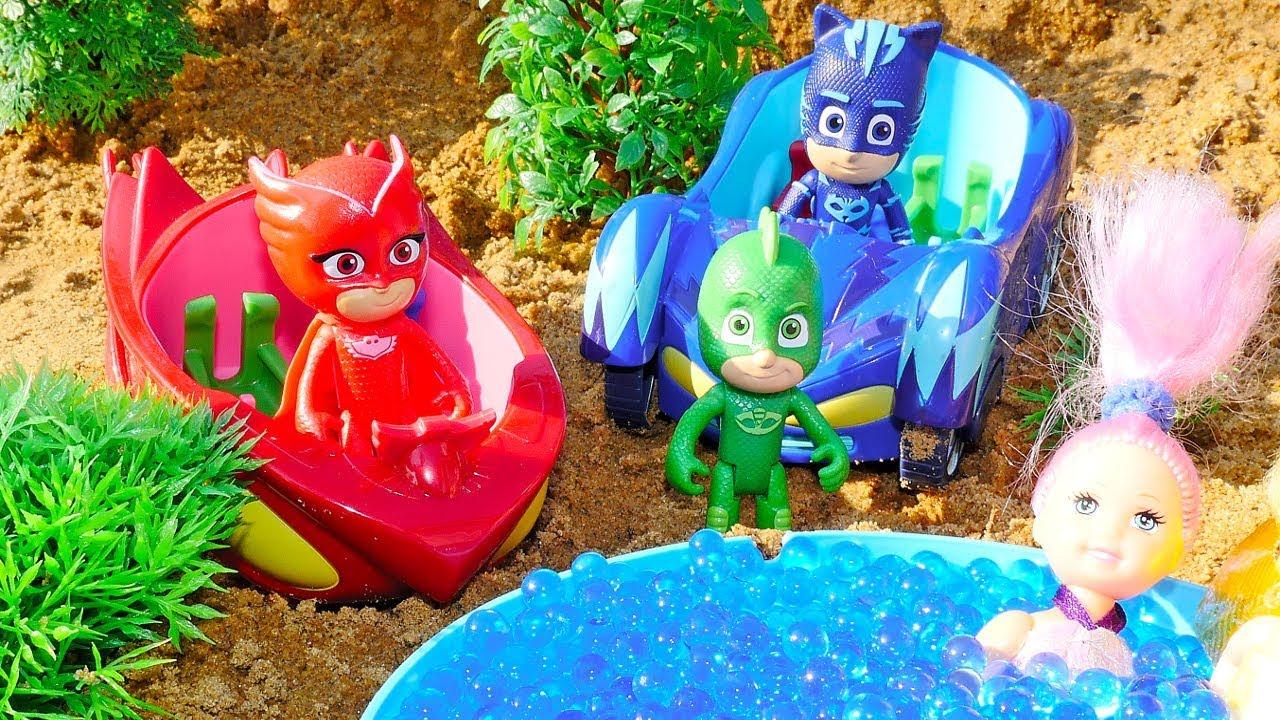 Мультики для малышей — Герои в масках, куклы и бассейн из ...