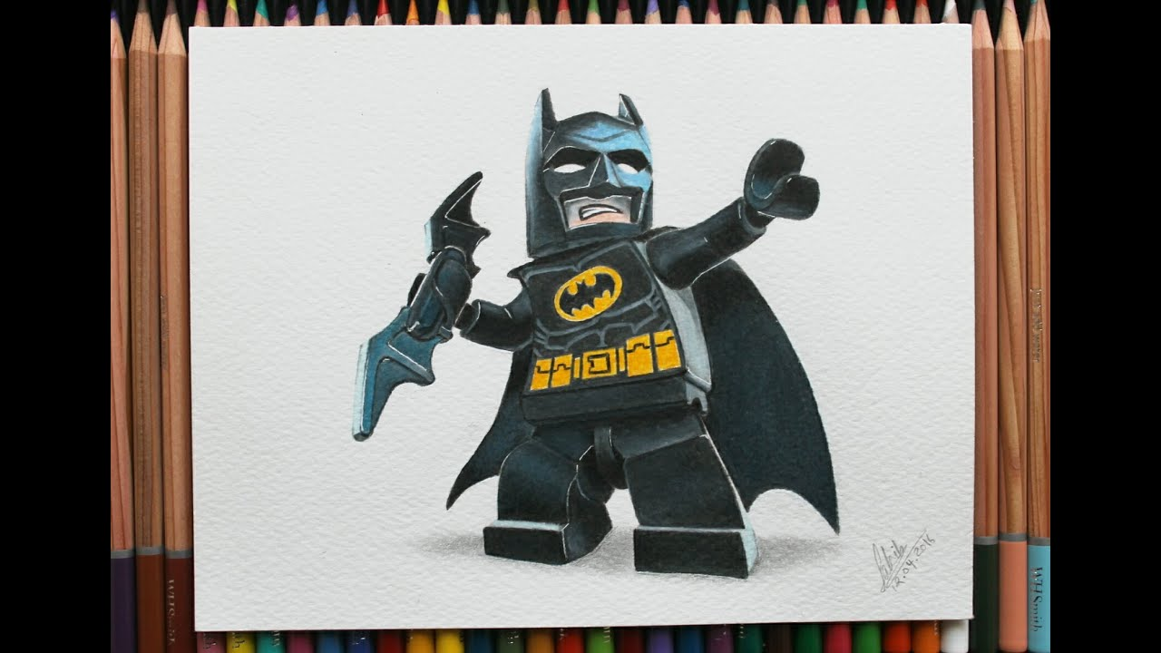 How I Draw and Color Lego Batman- Speed Drawing - YouTube