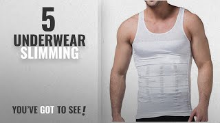 Top 10 Underwear Slimming [2018]: HANERDUN Mens Body Shaper Slimming Shirt Compression Vest Elastic